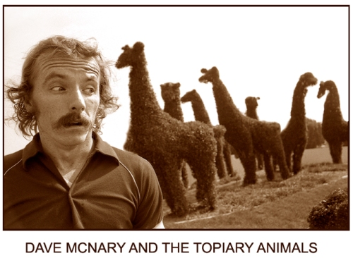 dave-and-topiary-animals-sepia1