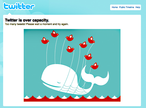 Twitter is over-capacity