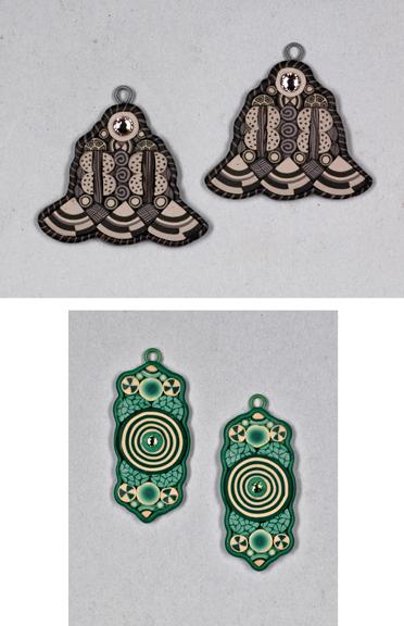 Caned earrings