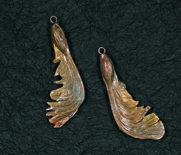 Silver Maple pod earrings