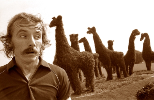 Dave McNary and the topiary animals