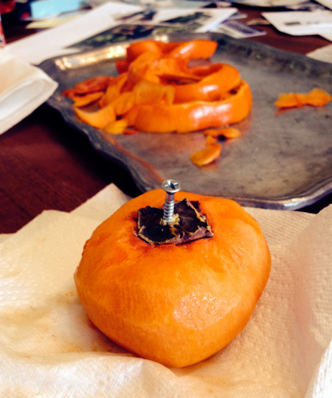 persimmon with screw